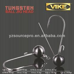 fishing tackle/tungsten ball jig head(1/4oz)3/0HOOK
