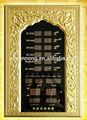الصمام الرقمي ساعة آذان مسلم الصلاة وقت/ مطبوع الإطار الكرمة/ الشاشات التي تعمل باللمس وظيفة اختيارية