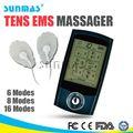 Sunmas caliente uso en el hogar equipos médicos de la palma de percusión masajeador