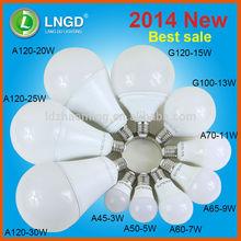 2014 new product 3w 5w 7w 9w 11w 13w 15w 20w 25w 30w led bulb light China manufacturer