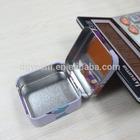 makeup use metal material small rectangular hinged tin ,makeup tool kits with printing and internal mirror