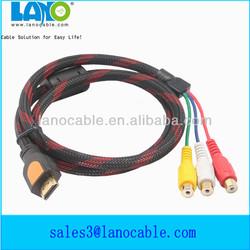 high quality 3 rca female to mini hdmi audio cable
