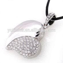 Free sample low price wholesale white heart shape usb flash drive