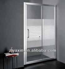 Bathroom Aluminium Profile Sliding Glass Shower Screen