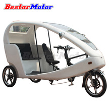 Italy CE approved 800W Adult Electric Tricycle for passenger similar to German velo taxi