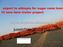 ethiopia sugar cane trailer for tractors