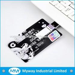 Hot business card usb flash drive , credit card usb stick , new model flash card