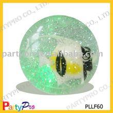 2014 Hot Sell 50-100MM Glitter 3D Water Bounce Ball