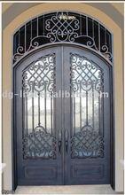 wrought iron and glass door