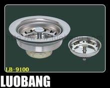 CUPC 4.5 inch Stainless Steel Drain Sink Basket Strainer LB-9100