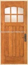 oak glass door