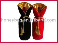 2013 HOT SELL velvet wine bag