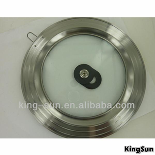 batería de cocina universal piezas tapa de vidrio templado