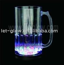 LED Light-Up Flashing Beer Mug Light Up Frosty Cooler Mug Blinking LED Tall Beer Mug