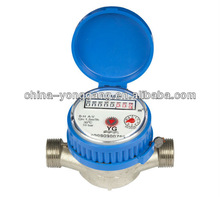 "Single jet dry type brass water meter 1/2"" to 1"""