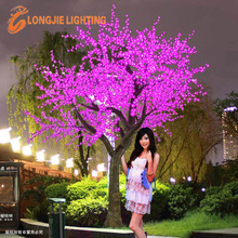 beautiful Christmas/wedding decorative pink artificial outdoor led tree lights