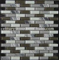 Glass Mix Stone Art Mosaic Tile/Brick Pattern