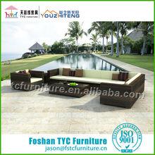 fashion hand woven L shape sofa