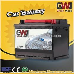 High Capacity GW BRAND DIN55MF 12V 55AH Maintenance Free Car Battery High Quality Lead Acid Battery