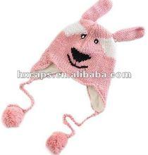 Knit children cap/knitting animal child hat
