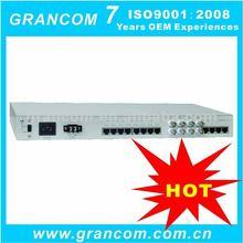 Optical Fiber to 4 voice + 2 Ethernet + 4 E1 +2 COM (RS232/422/485) Optical Voice multiplexer