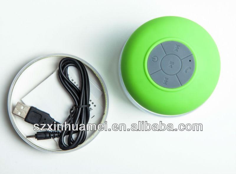 Unique Waterproof Bluetooth Shower Speaker IPX4 Qualified For IOS Phones Vi