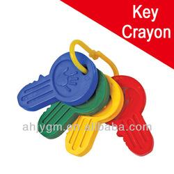4PCS Key Shaped Good Quality Plastic Crayon