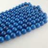 Chinese bead factory Natural Stone fossil round beads Semi precious stone bead