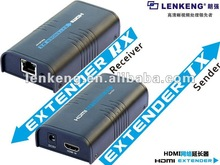 High definition 1080p HDMI Extender over IP extender HDMI transmitter and receiver by Cat5 100m