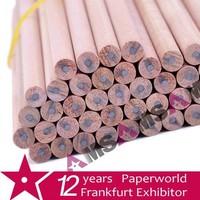 HB round wooden pencil without eraser