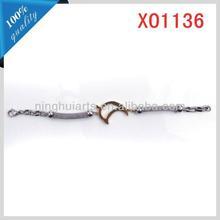 mens leather bangle bracelet stainless steel design