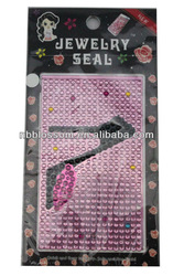 2013 wholesale jewelry seal cell phone stickers
