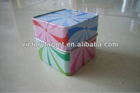 square metal tin box/gift tin container/tin canister