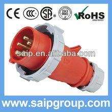 2013 New 16A 400V electricity connectors IP67 4P+E