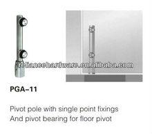 stainless steel material swing glass door top pivot