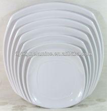 SQUARE MELAMINE DINNER PLATE(PURE WHITE)