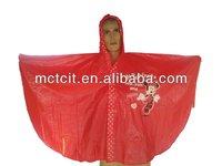 Disposable with cartoon printing PE/PVC Poncho Raincoat
