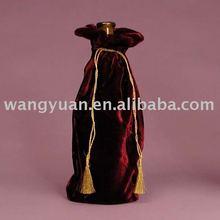 velvet wine bags with tassel