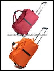 new fashion good quality trolley travel bag &luggage bag&duffel trolley bag with trolley bag with wheels rolling bag