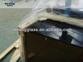 qinhuangdao8mmหนาบรอนซ์เลื่อนห้องน้ำประตูกระจกแบนที่มีขอบขัดและหลุม