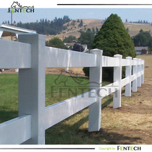 2014 Hot sale High Quality 2-rail PVC Ranch Fence
