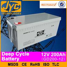 batteria profonda del ciclo solare batteria 12v 200ah invertitore usato