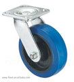 الأزرق المطاط مطاطا دوارة الثقيلة المذره العجلات الصناعية للانزلاق الباب