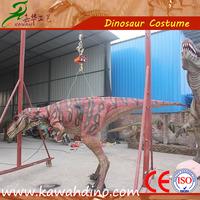 Realistic walking costume dinosaur