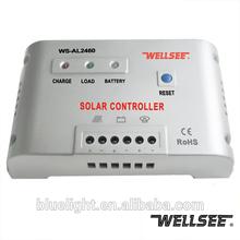Controlador de carga solar 12 v 24 v 60A com função dimmer WS-AL2460