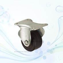 Light Duty Top Plate Rubber Caster Wheel For Sliding Door