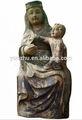 Handcarved bois antique statues religieuses, sculpture déesse