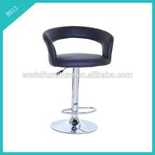 Pu bancos de bar chrome bar stool metal bar bancos