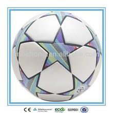 Star design Laminated Football, new design football for 2014