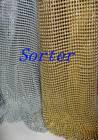 Sorter's glod metal cloth metallic cloth mesh fabric